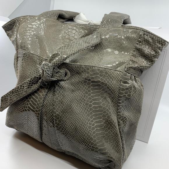 Perlina Handbags - Perlina Faux Snakeskin Hobo Bag